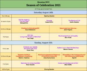 Houston NVC Season of Celebration Schedule (Grid)